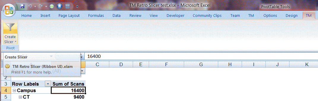 TM Retro Slicer help