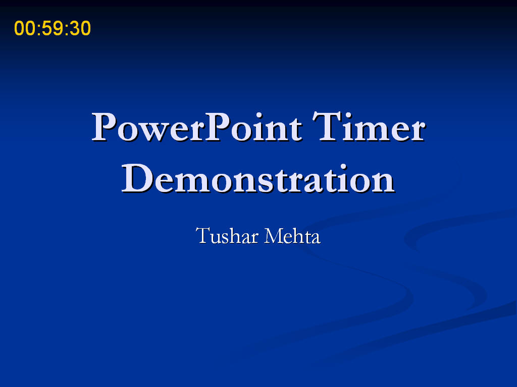 slideshow powerpoint timing between slides