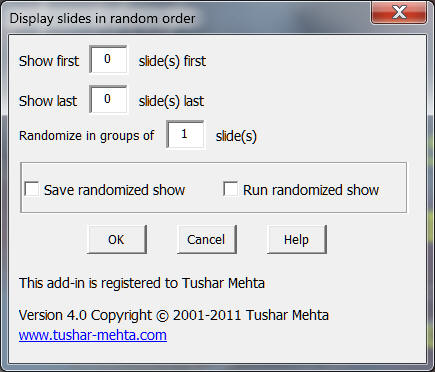 TM Randomize Slideshow
