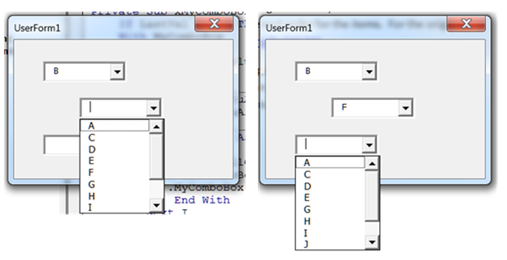 Extend an objects attributes so the combined effect is that in the third combobox neither b nor f is available ibookread Download