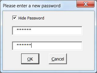 New and Check Password